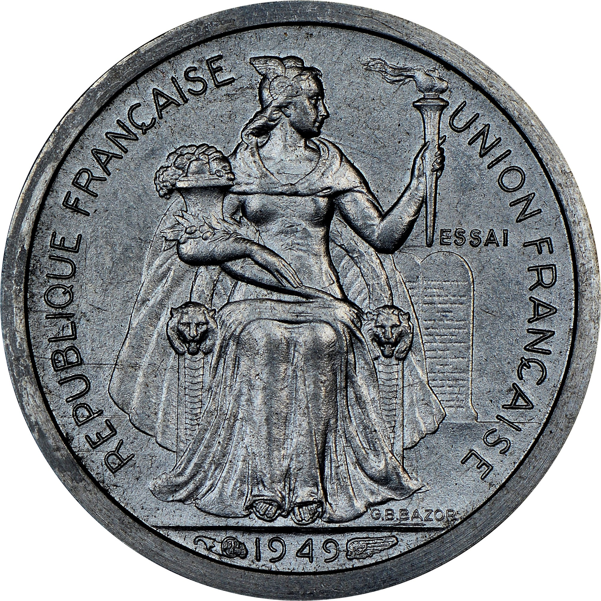 New Caledonia 50 Centimes obverse