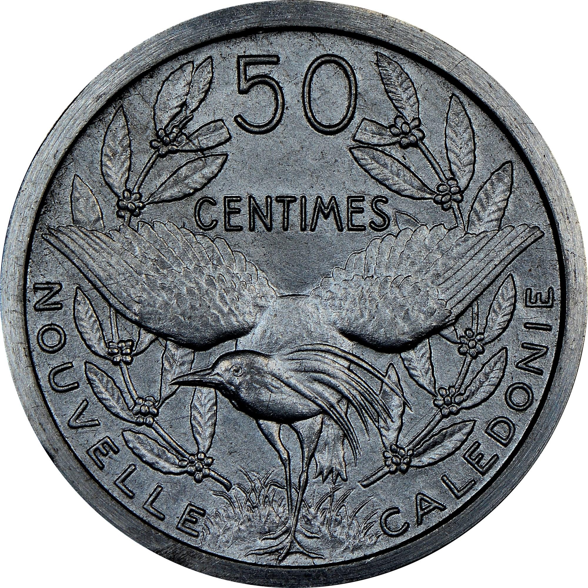 New Caledonia 50 Centimes reverse