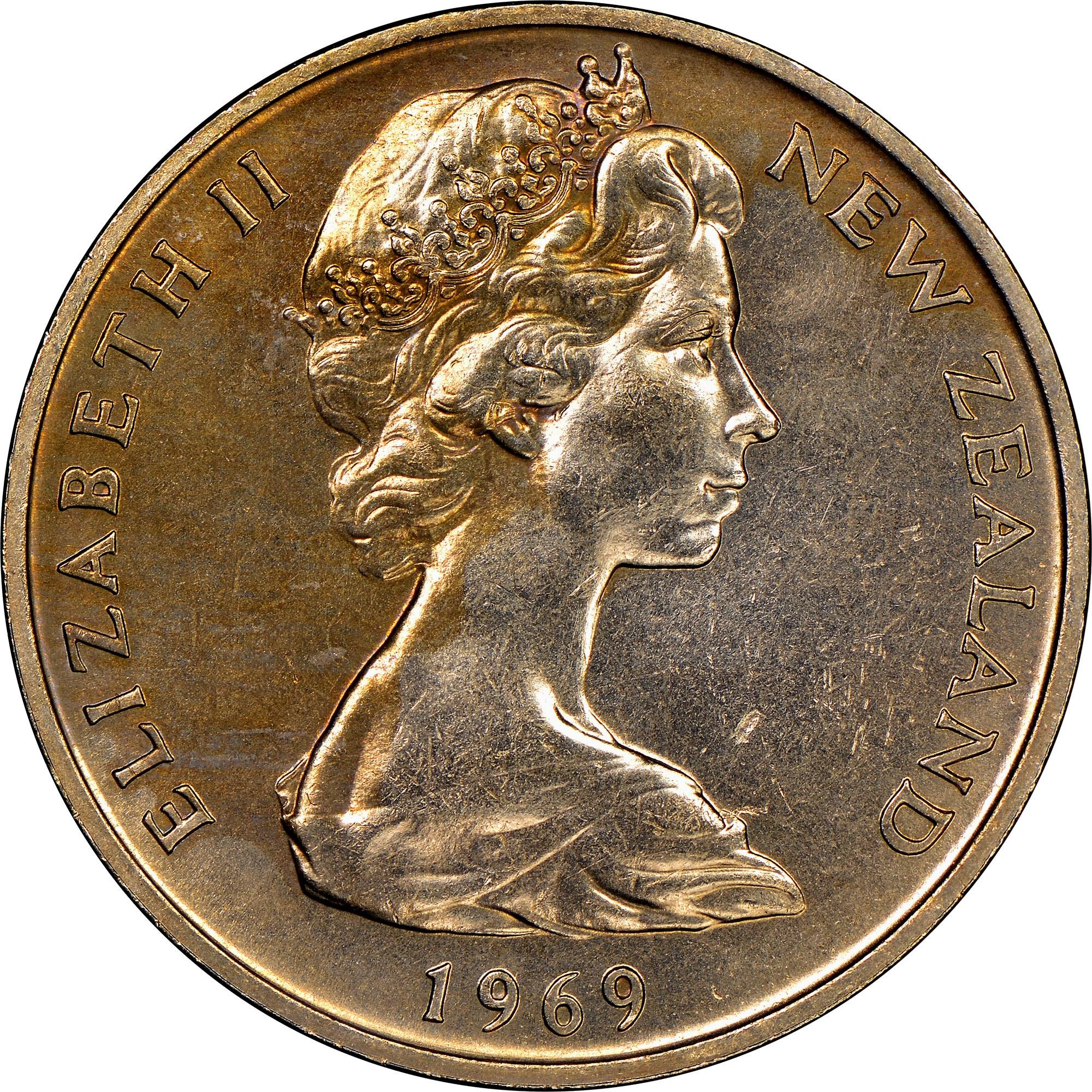 New Zealand 20 Cents obverse