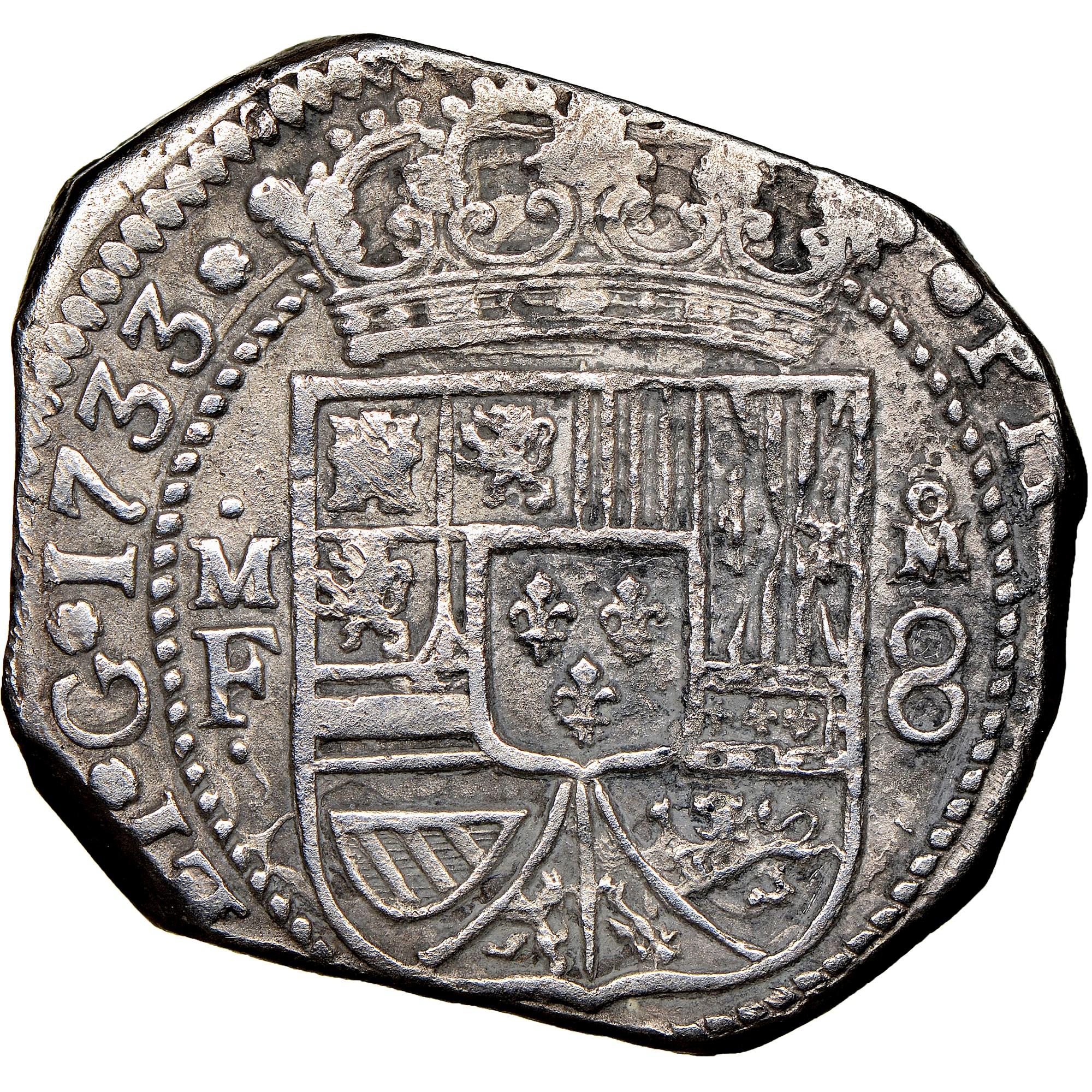 foto de Mexico SPANISH COLONY 8 Reales KM 48 Prices & Values   NGC