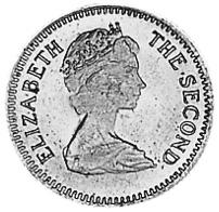 Rhodesia 3 Pence = 2-1/2 Cents obverse