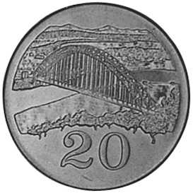 Zimbabwe 20 Cents reverse