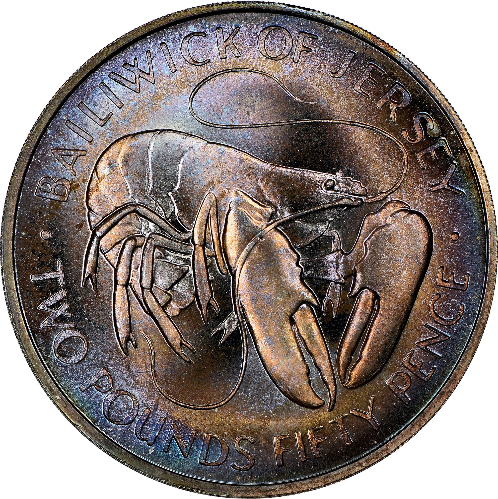 Jersey 2 Pounds 50 Pence reverse