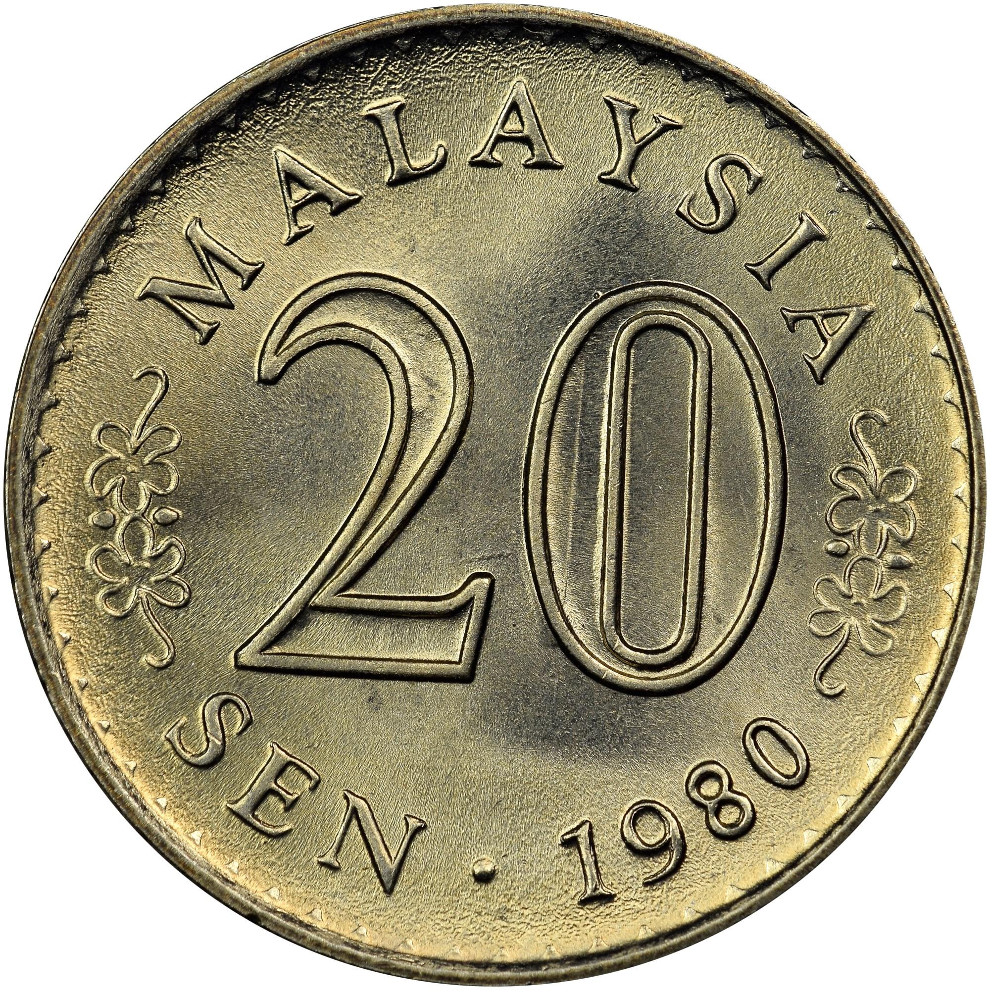 Malaysia 20 Sen KM 4 Prices & Values | NGC