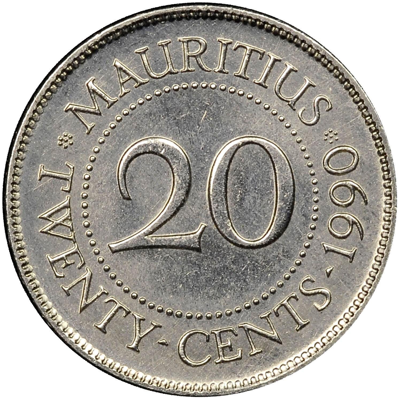 Mauritius 20 Cents obverse