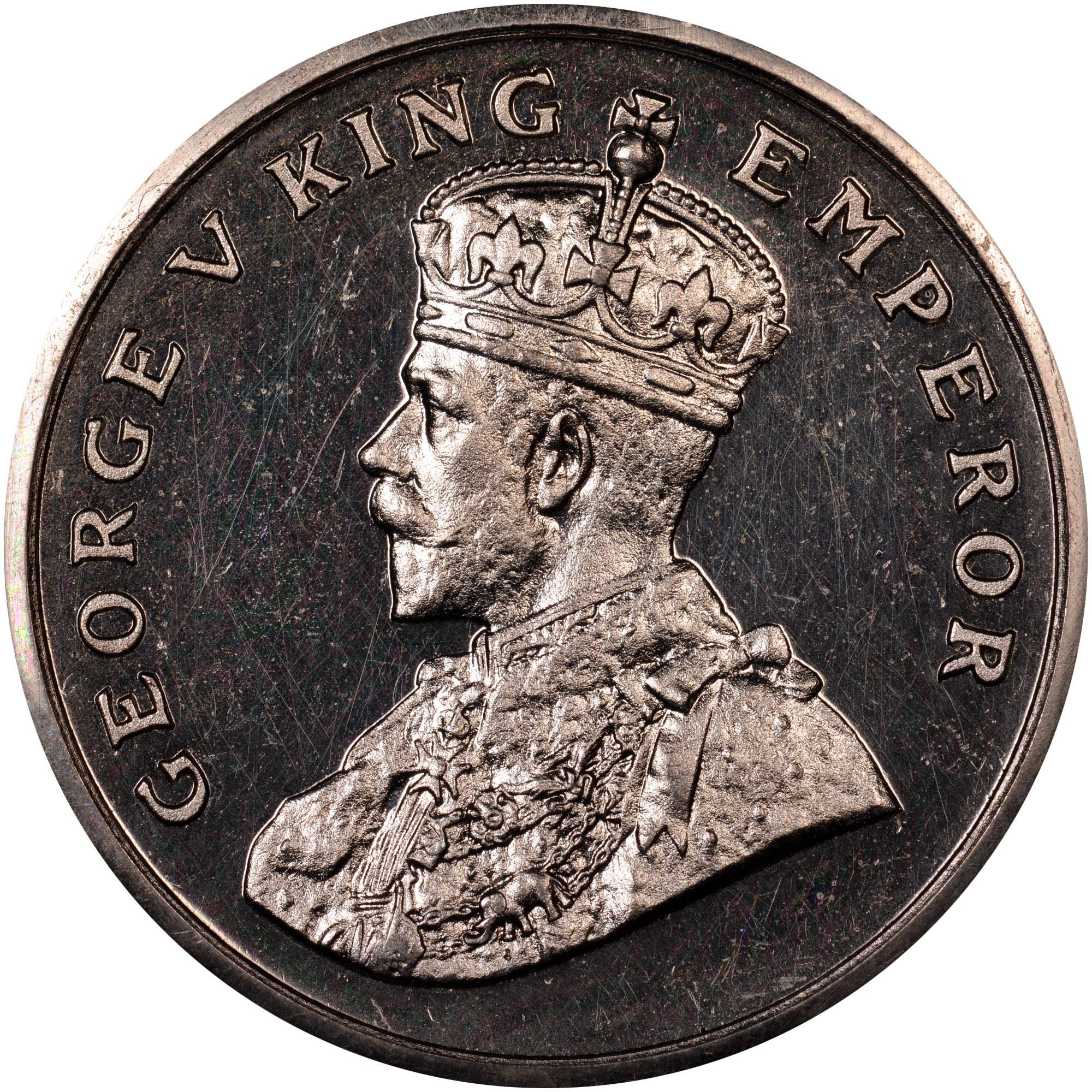 Coin Chart: 1919-1920 India-British 8 Annas KM 520 Prices & Values