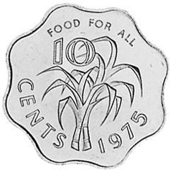 Swaziland 10 Cents reverse
