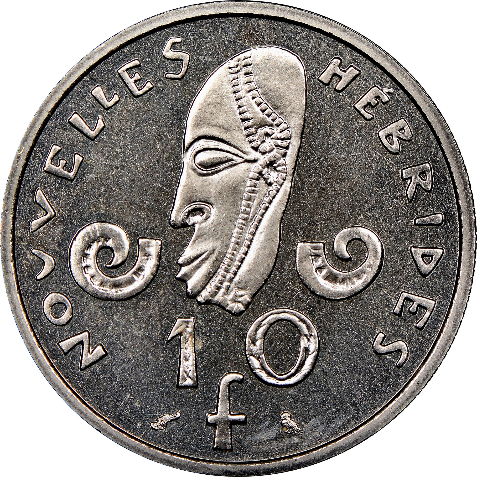 New Hebrides 10 Francs reverse