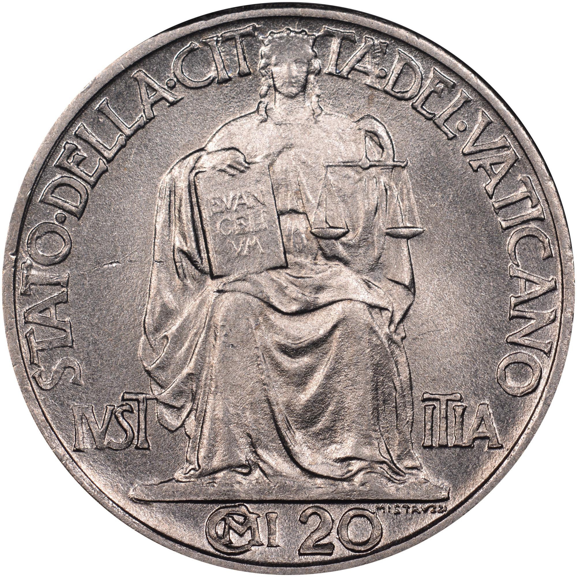 Vatican City 20 Centesimi reverse