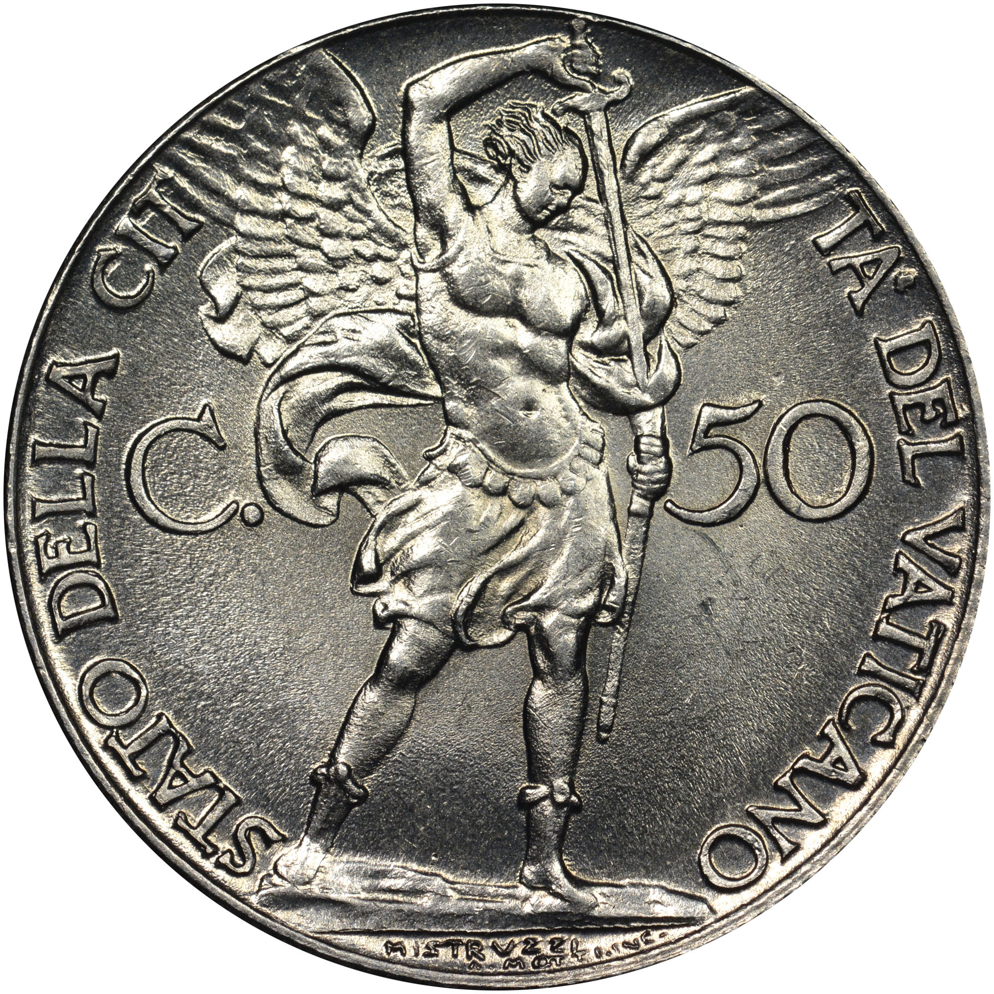 Vatican City 50 Centesimi reverse