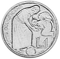 Vatican City Lira reverse