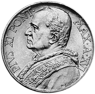 Vatican City 10 Lire obverse