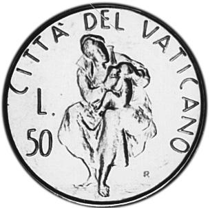 Vatican City 50 Lire reverse