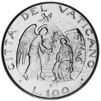 Vatican City 100 Lire reverse