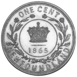 1865-1896 Newfoundland Large Cent reverse