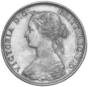 1865-1896 Newfoundland Large Cent obverse
