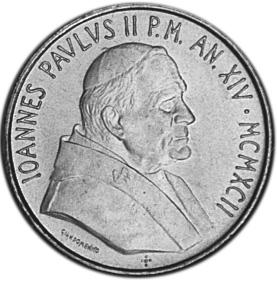 Vatican City 200 Lire obverse