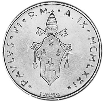 Vatican City 500 Lire obverse