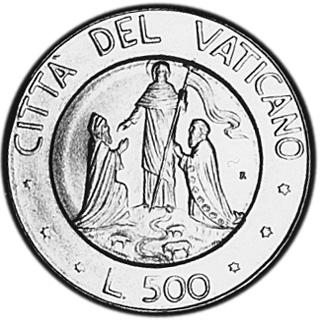 Vatican City 500 Lire reverse