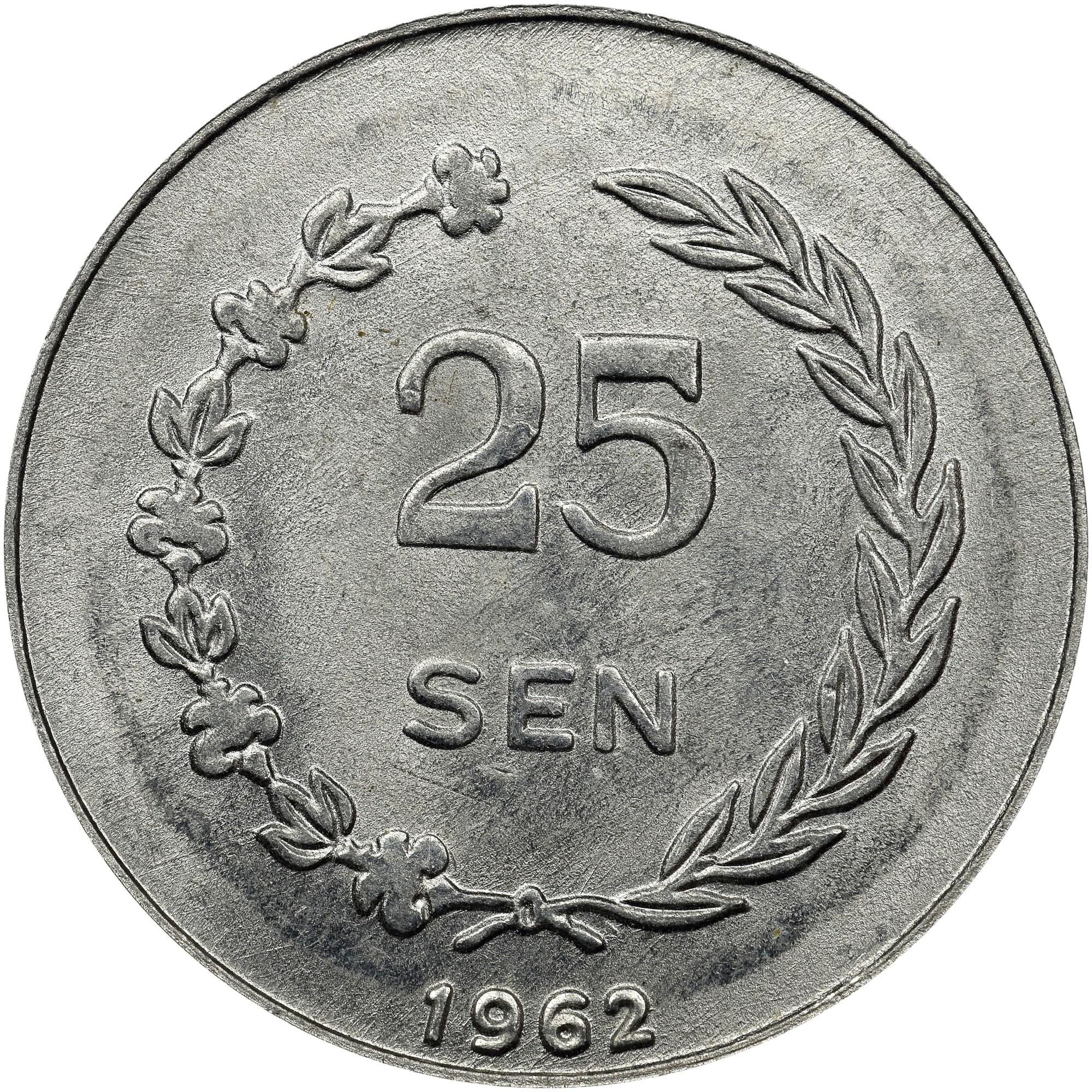 Indonesia IRIAN BARAT 25 Sen reverse