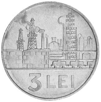 1966 Romania 3 Lei reverse
