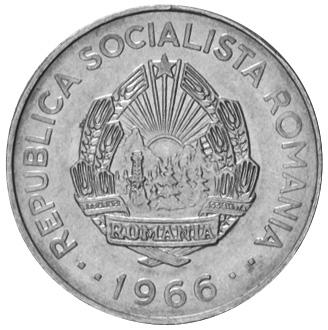 1966 Romania 3 Lei obverse