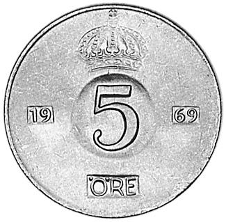Sweden 5 Öre reverse