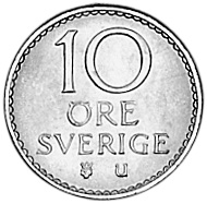 Sweden 10 Öre reverse