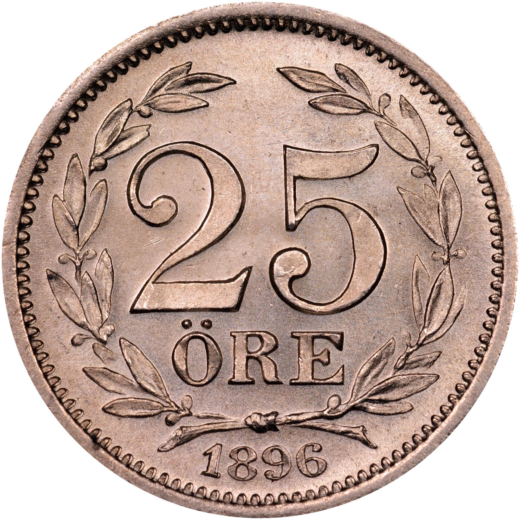 Sweden 25 Öre reverse