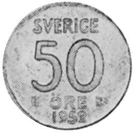 Sweden 50 Öre obverse