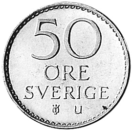 Sweden 50 Öre reverse