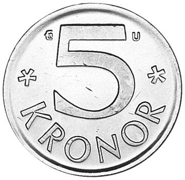 Sweden 5 Kronor reverse