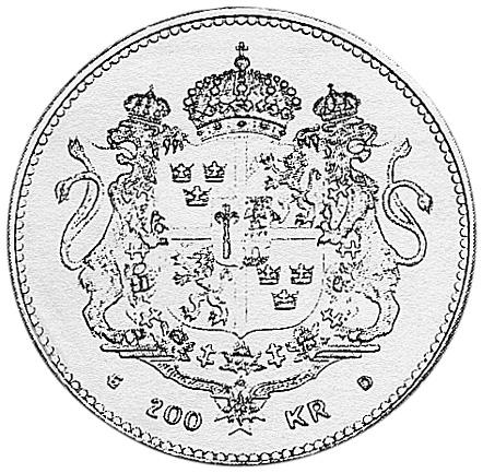 Sweden 200 Kronor reverse