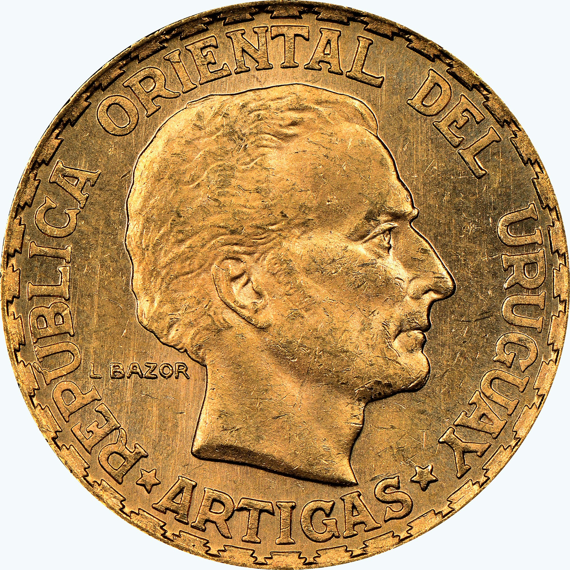 Uruguay 5 Pesos obverse