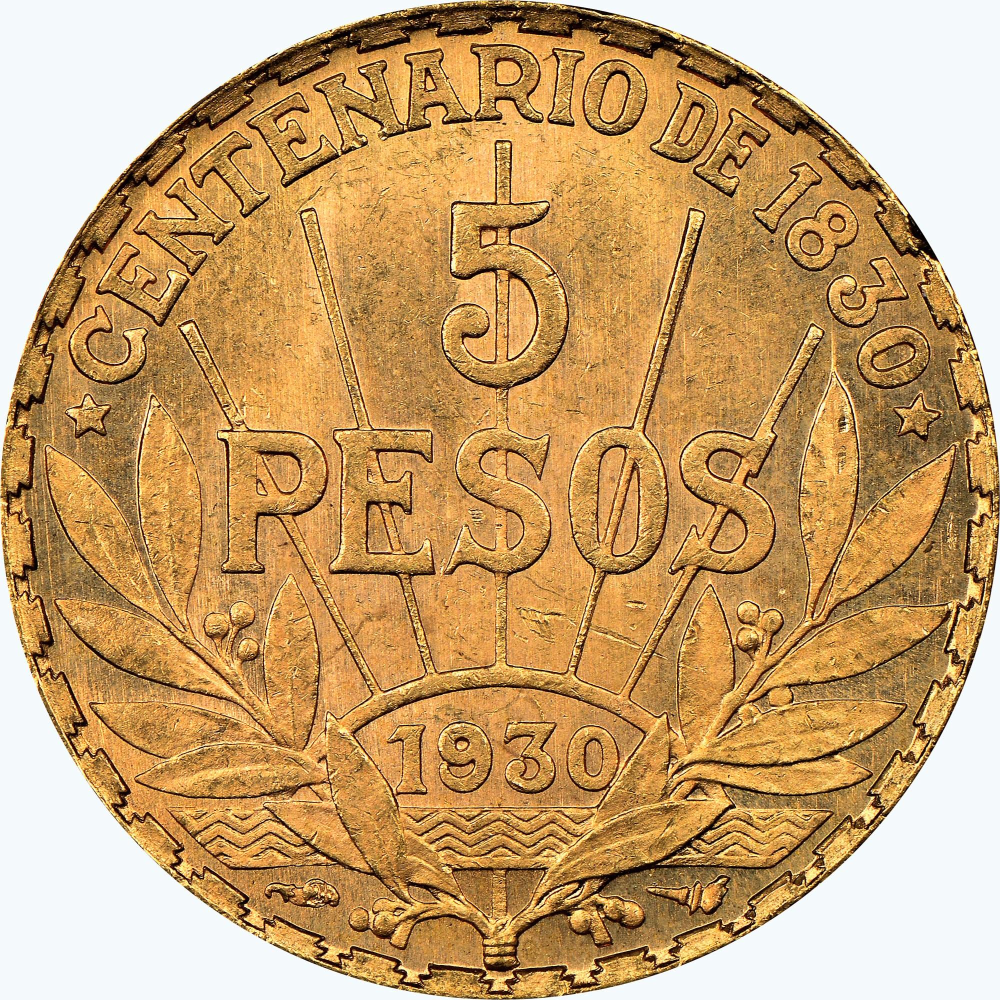 Uruguay 5 Pesos reverse