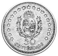 Uruguay 50 Centesimos reverse