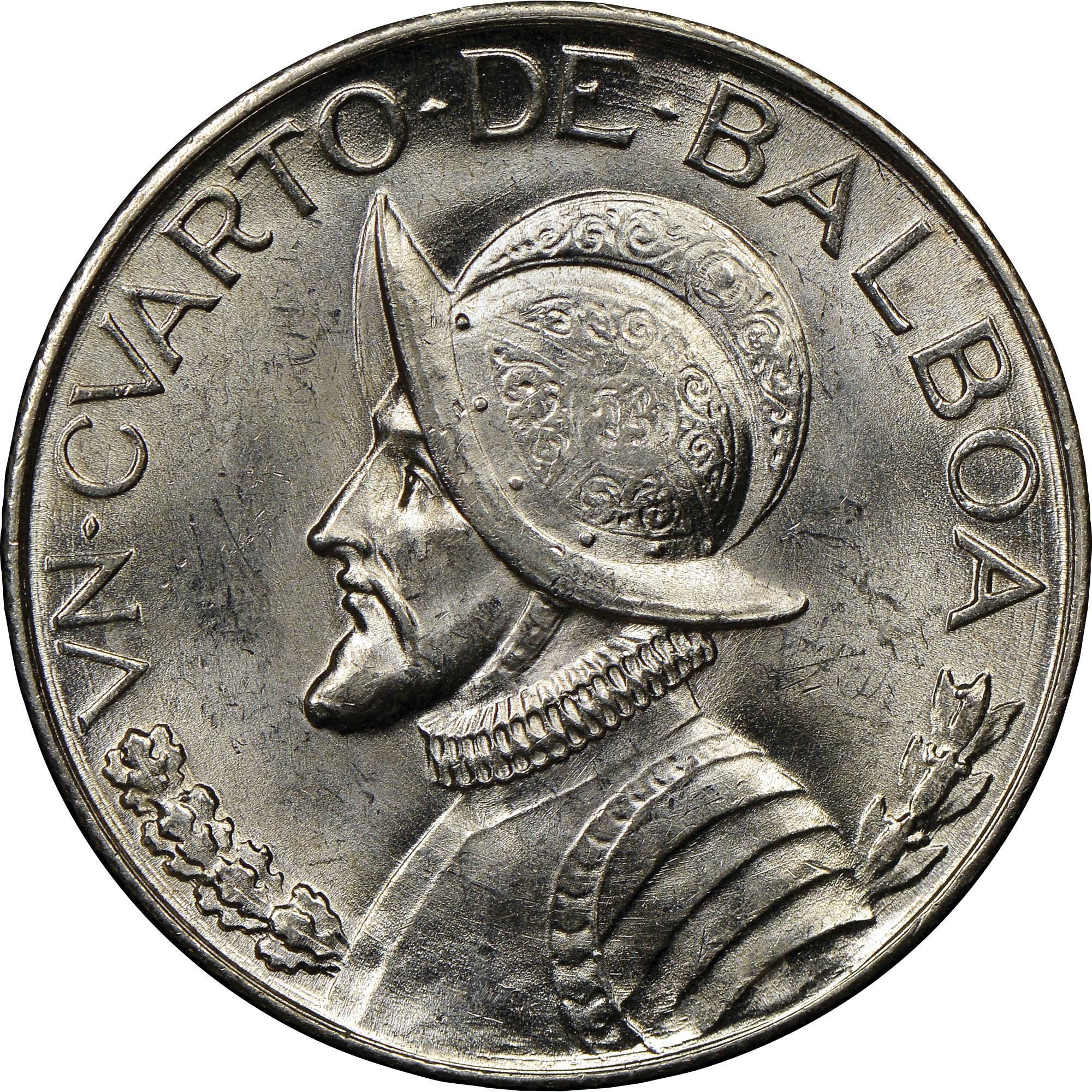 Coin Chart: Panama 1/4 Balboa KM 11.1 Prices & Values