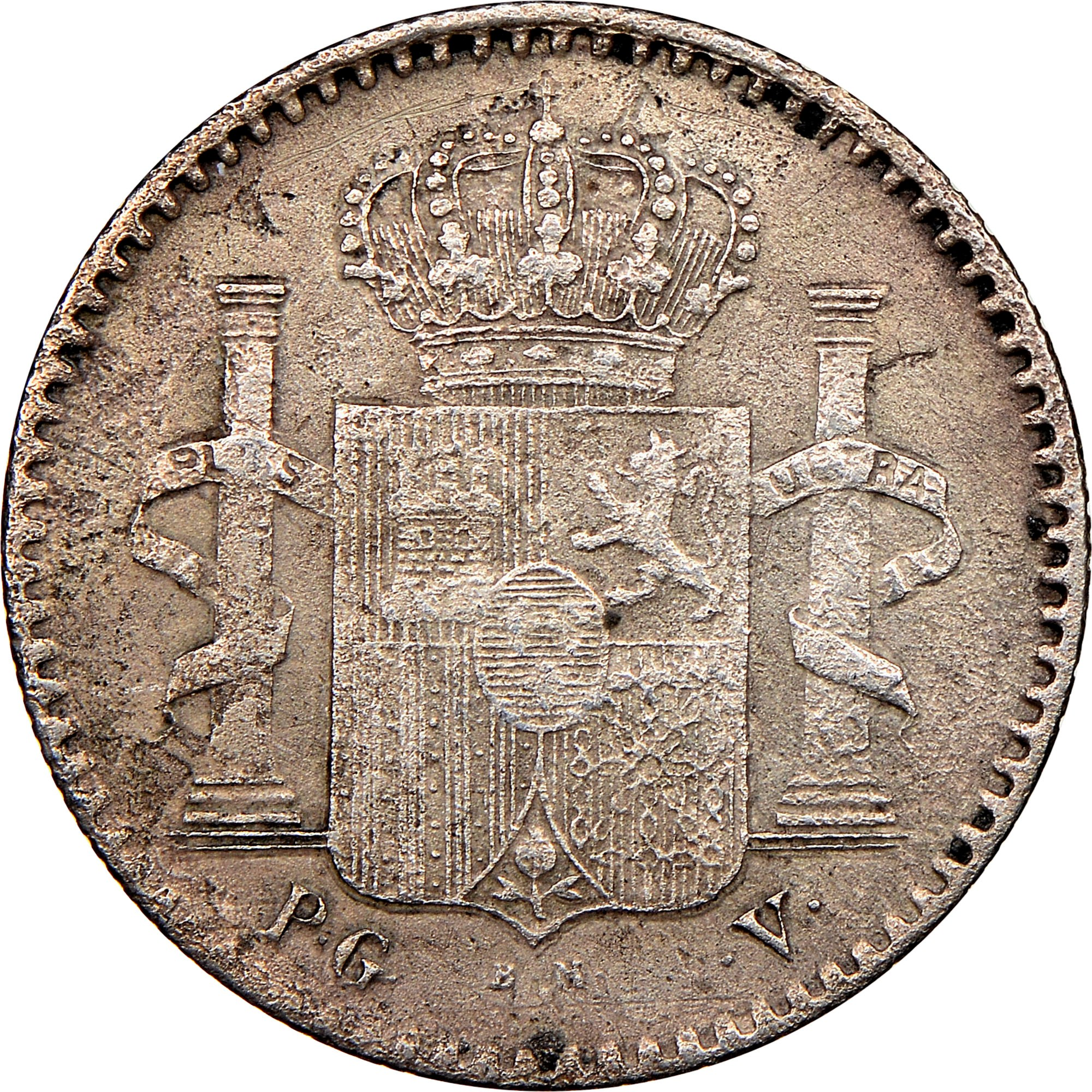 Puerto Rico 5 Centavos reverse