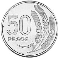 Uruguay 50 Pesos reverse