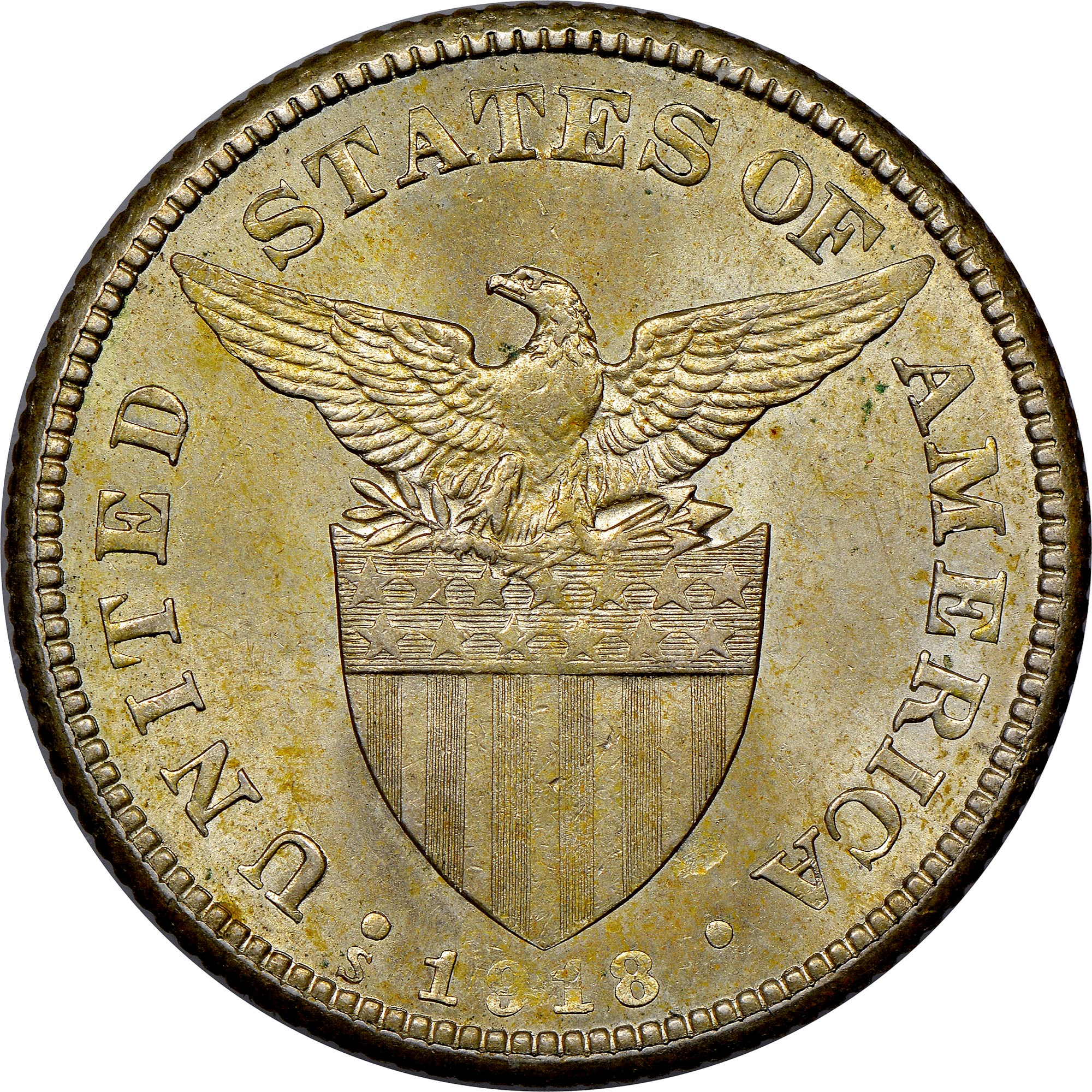 1907s PHILIPPINES 50 Centavos