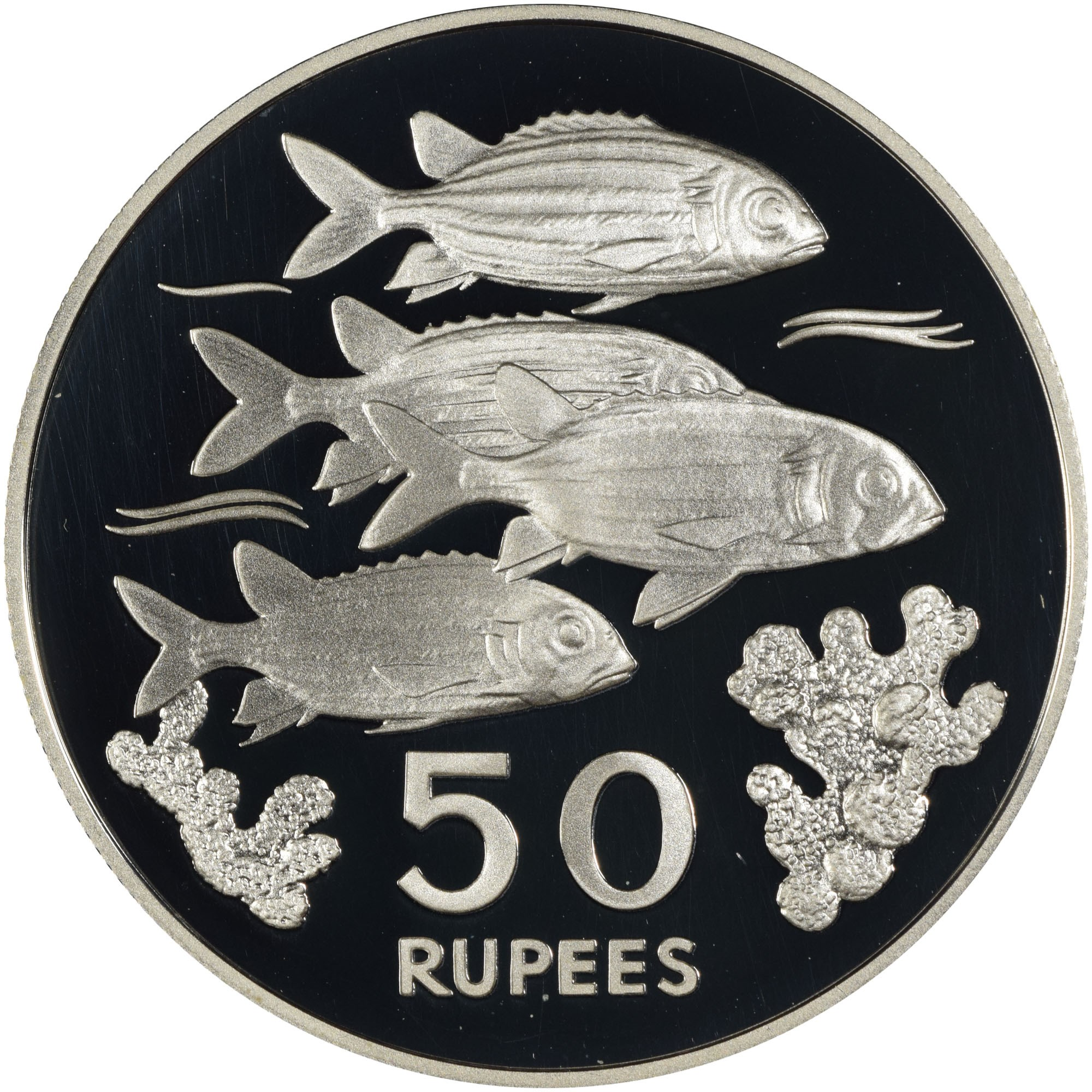 Seychelles 50 Rupees reverse
