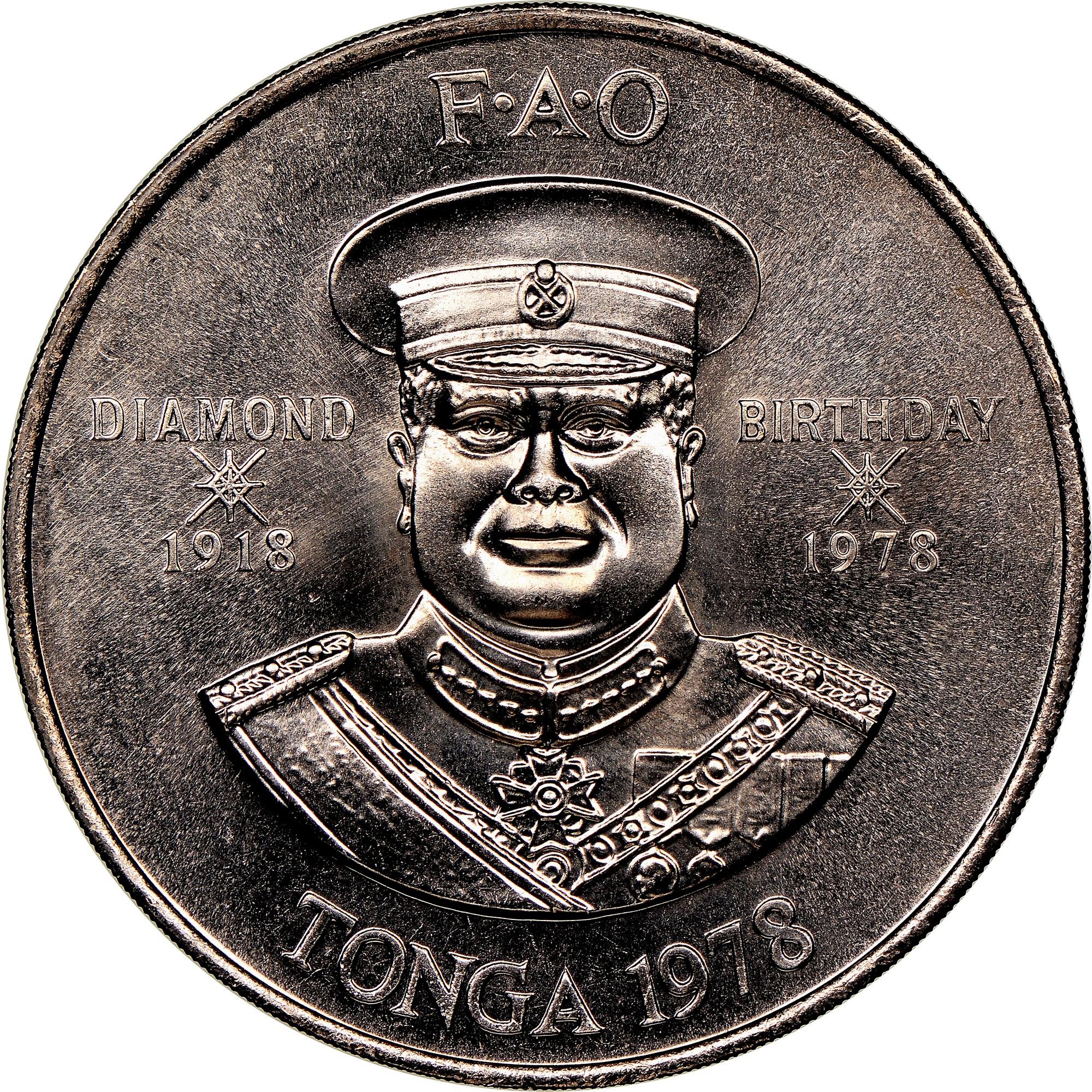 Tonga 2 Pa'anga obverse
