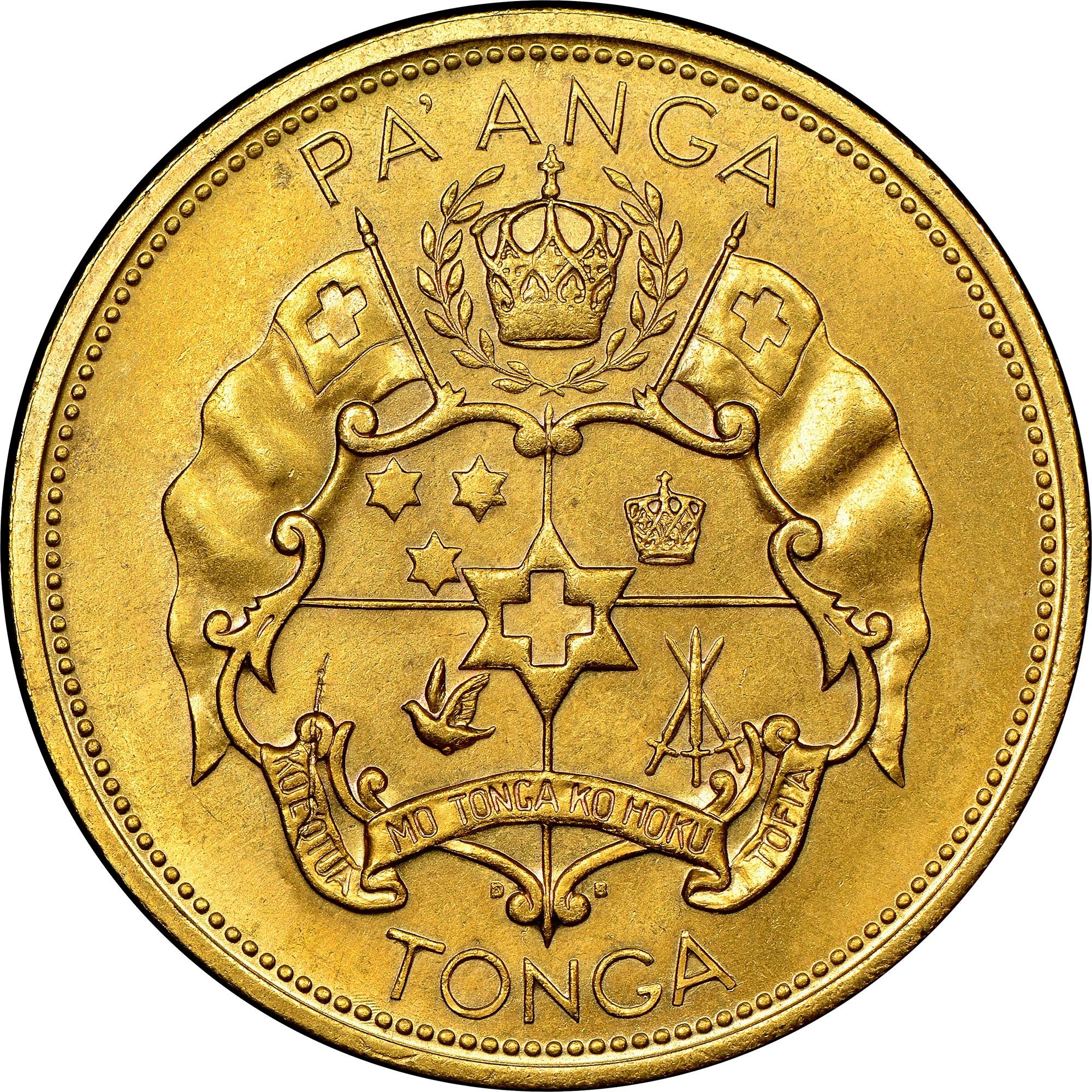 Tonga Pa'anga reverse