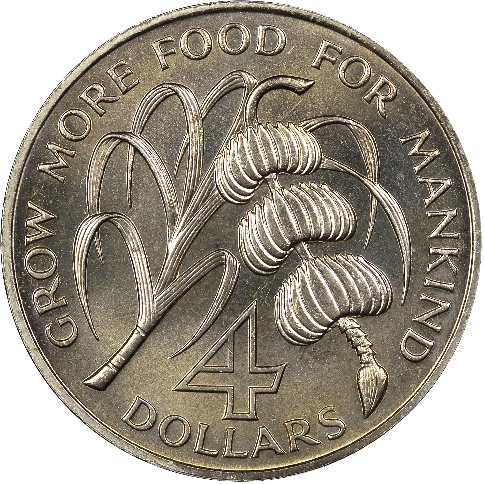 Saint Vincent 4 Dollars obverse