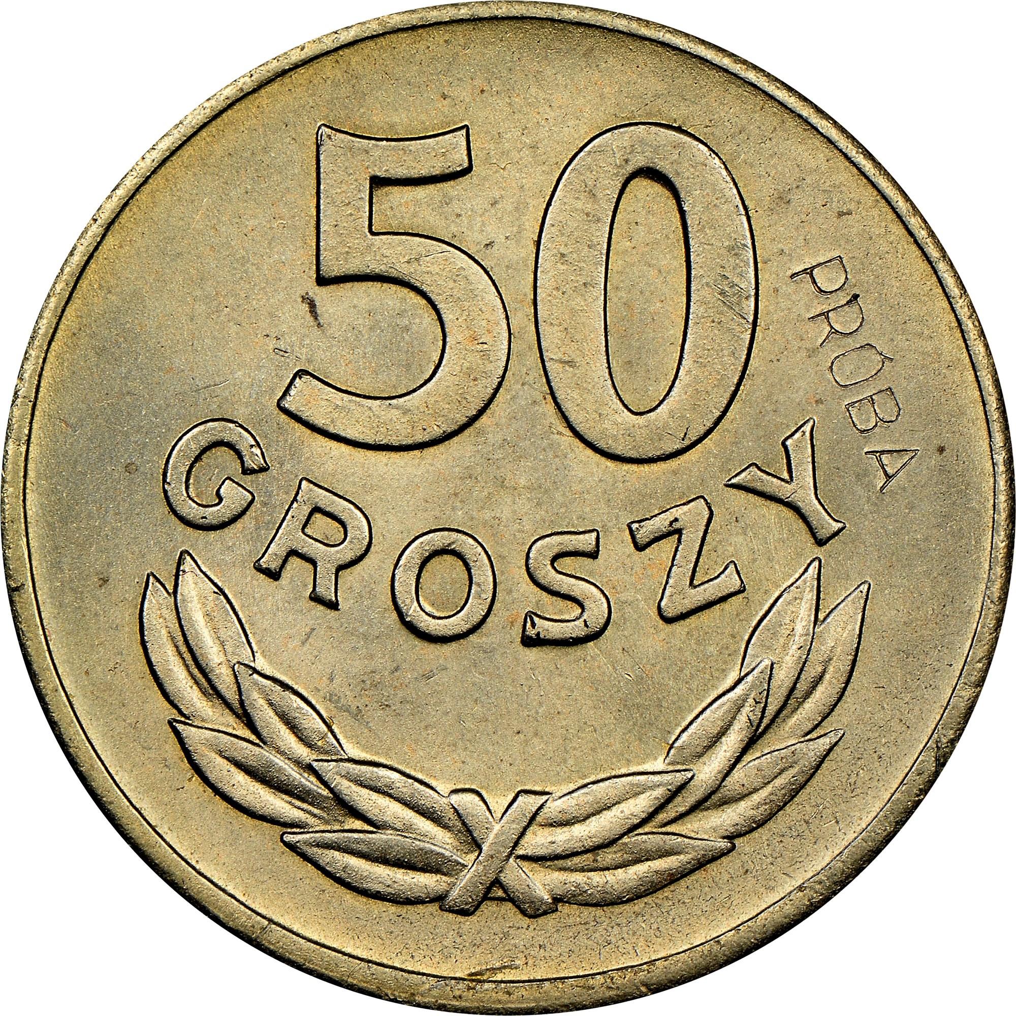 Poland 50 Groszy reverse