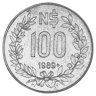 Uruguay 100 Nuevos Pesos reverse