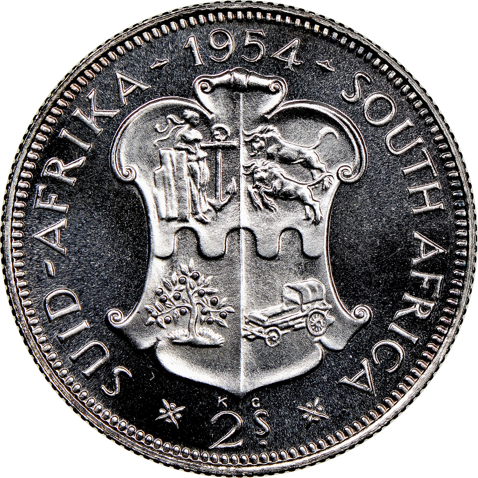 South Africa 2 Shillings reverse