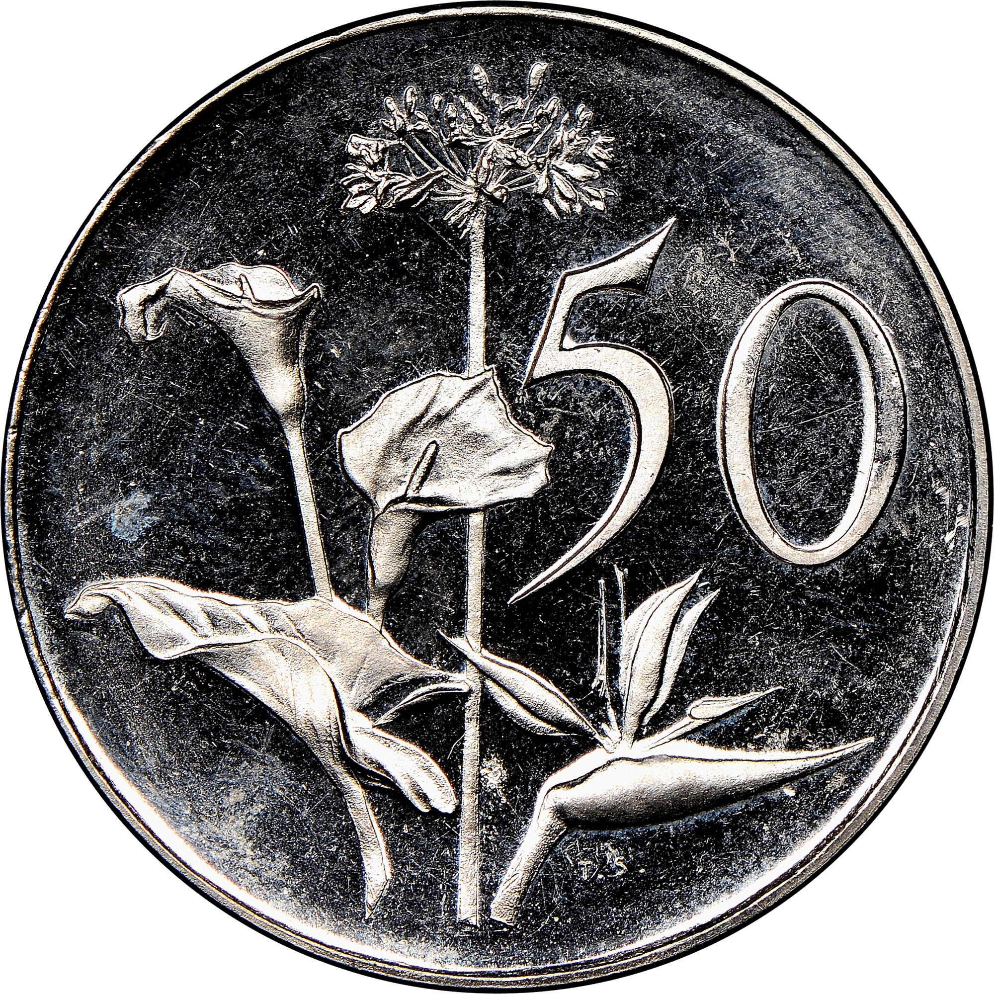 South Africa 50 Cents reverse