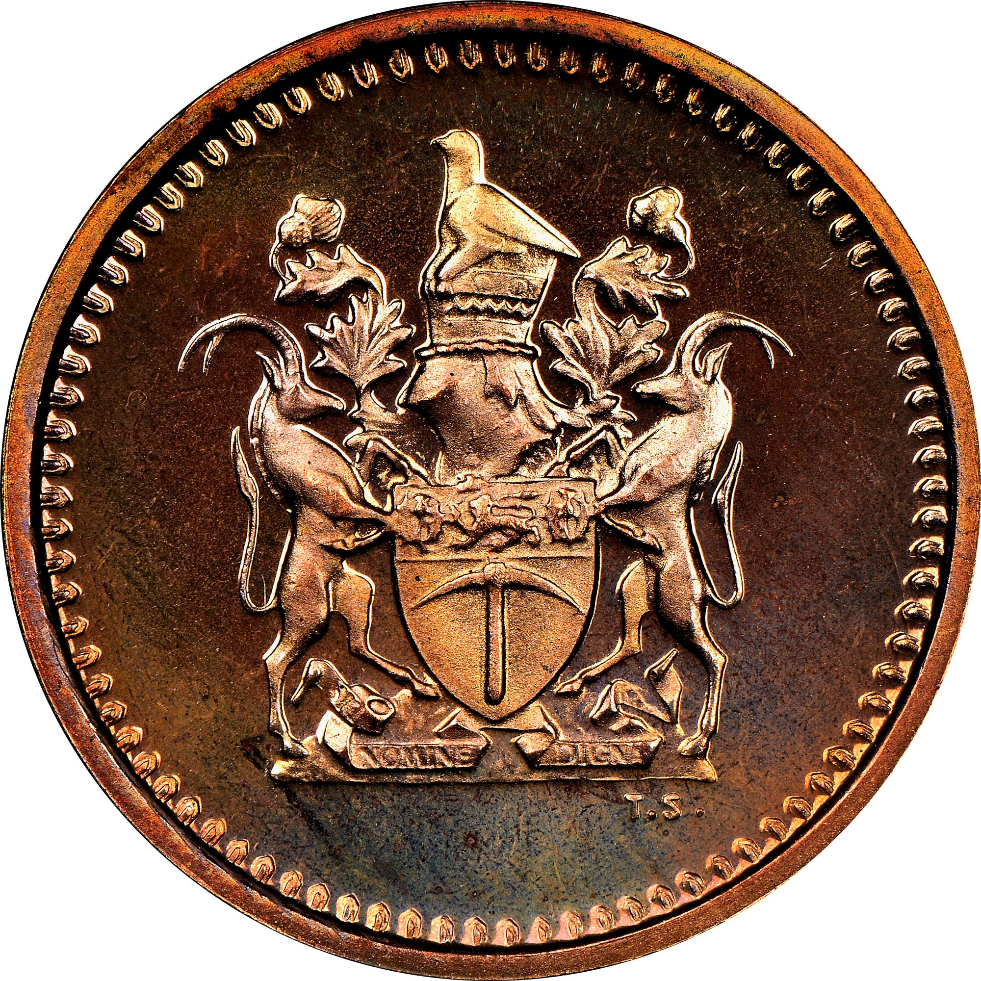 Rhodesia Cent reverse