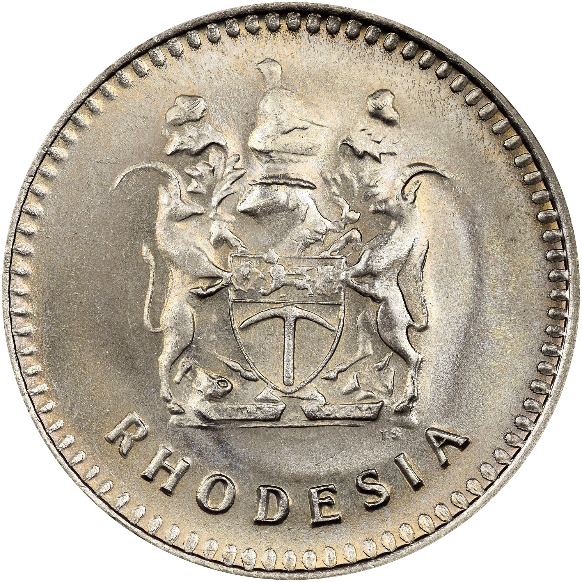 Rhodesia 20 Cents obverse